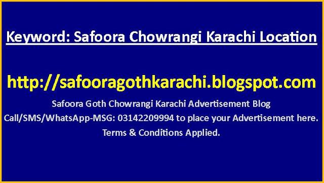 Nipa Chowrangi Karachi Pakistan Zip Code