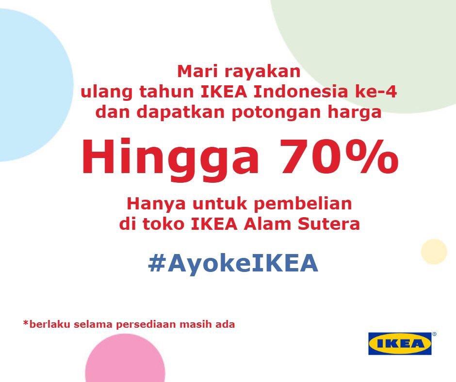 IKEA - Promo Diskon s.d 70% di IKEA Alam Sutra
