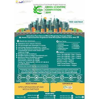 Lomba Karya Tulis Ilmiah Nasional Mahasiswa GSC 2019