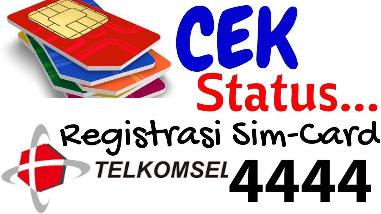 Untuk meregistrasi kartu telkomsel bagi calon pelanggan, ketik sms dengan format regnik#nomor kk# dan kirimkan ke 4444. Cara Cek Registrasi Sim Card Telkomsel