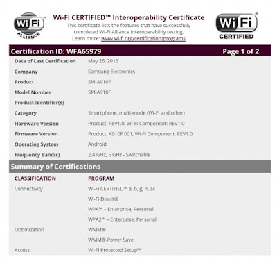 Samsung Galaxy A9 Pro now surfaces in Wi-Fi certification