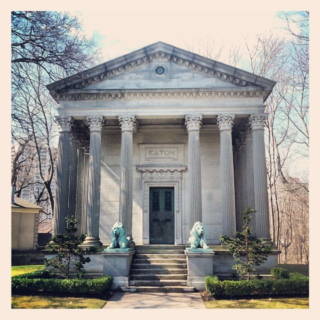 The Eaton family crypt in Mount Pleasant Cemetery