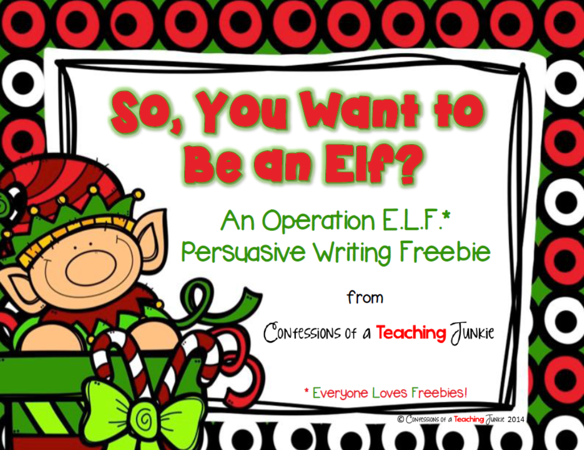 http://www.confessionsofateachingjunkie.com/2014/12/the-sunday-scoop-and-operation-elf.html