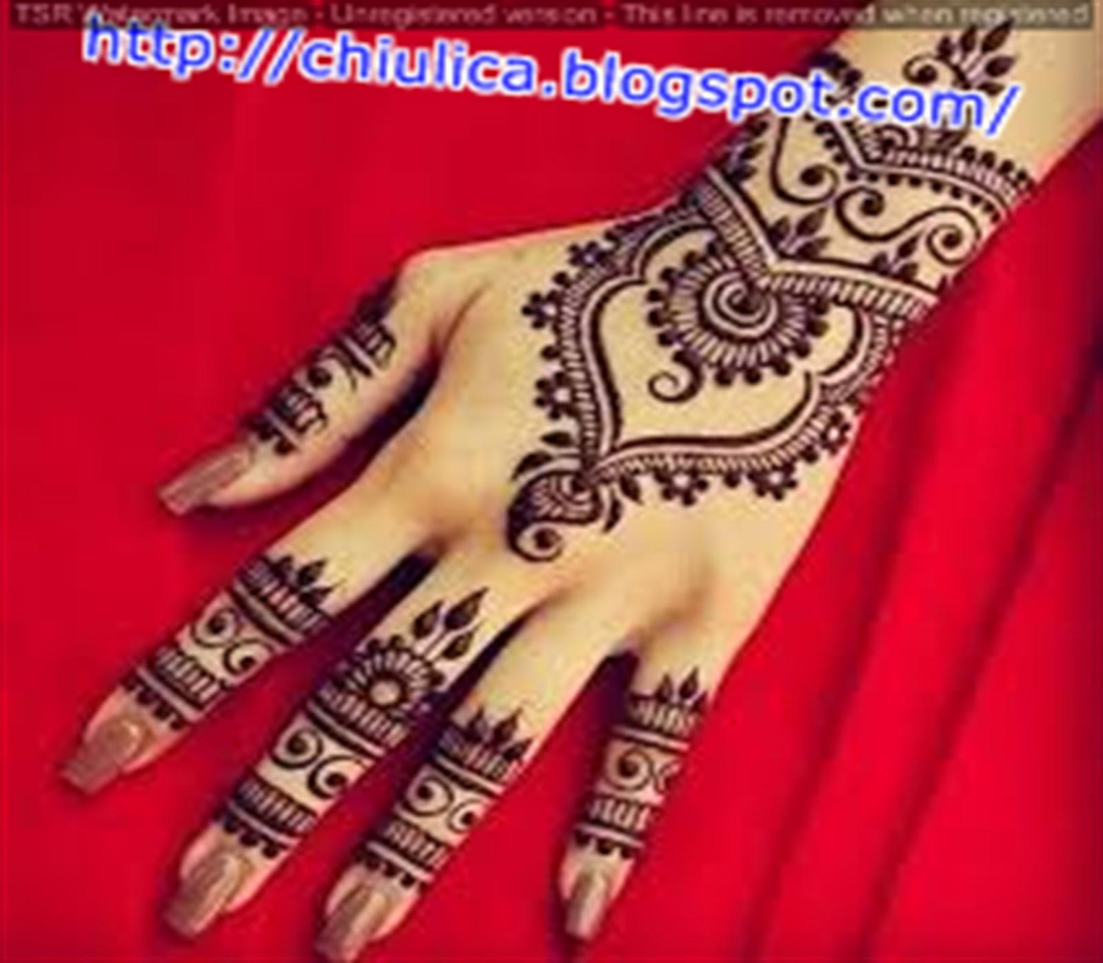 Henna Mahkota Simple Dan Mudah Terbaru 2017 Contoh Henna Simple