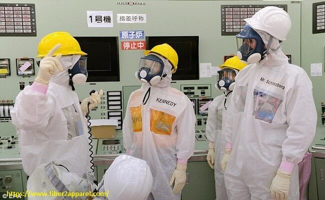 Nuclear radiation protective clothing