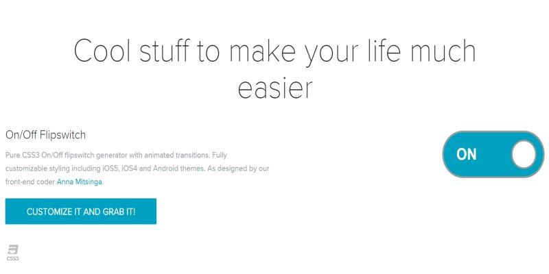 滑動開關切換按鈕﹍CSS 語法產生器