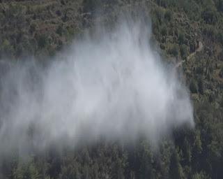 Φωτιά σε εξέλιξη σε δύσβατη περιοχή του Ταϋγέτου