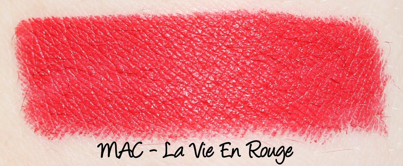 MAC La Vie En Rouge Lipstick Swatches & Review