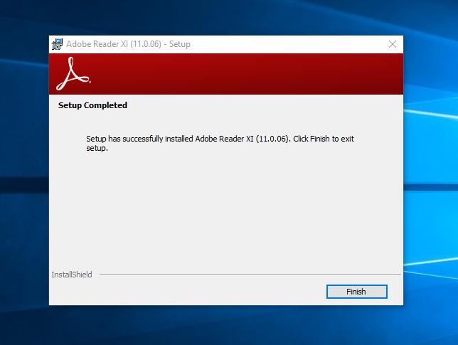Install Adobe Reader XI
