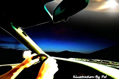 UFO Trails Car for 100 Kilometers – CHILE