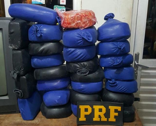 Matéria AquiPRF apreende 27 quilos de cocaína durante fiscalização na BR 364