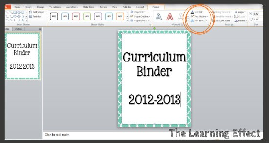 Technology Tutorial: Making Binder Covers & Spines - The Learning