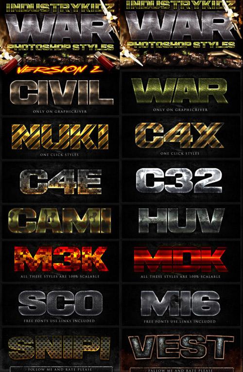 Efectos de texto de Juegos en PSD [Uso Comercial]