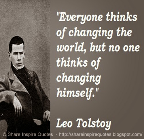 Everyone Thinks Of Changing The World, But No One Thinks