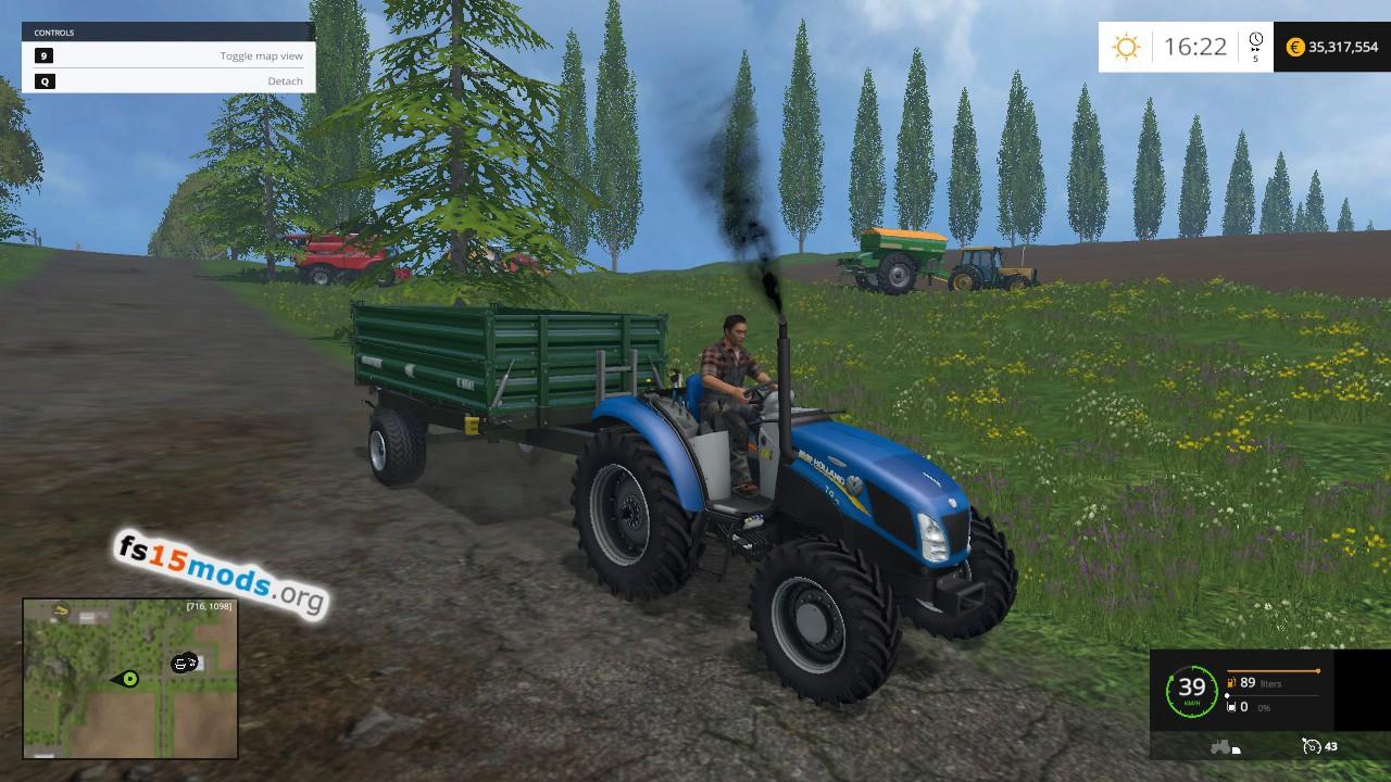 New Holland Garden Edition Tractor Fs15 Mods