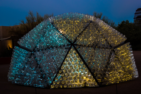 The First Installation That We Saw Was Beacon It Is A Dome Lights Are Inside Plastic Bottles
