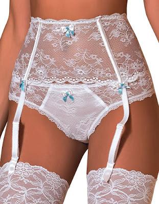 1159d46fe3e Garter World  Roza Women s Fifi White Lace Suspender Belt