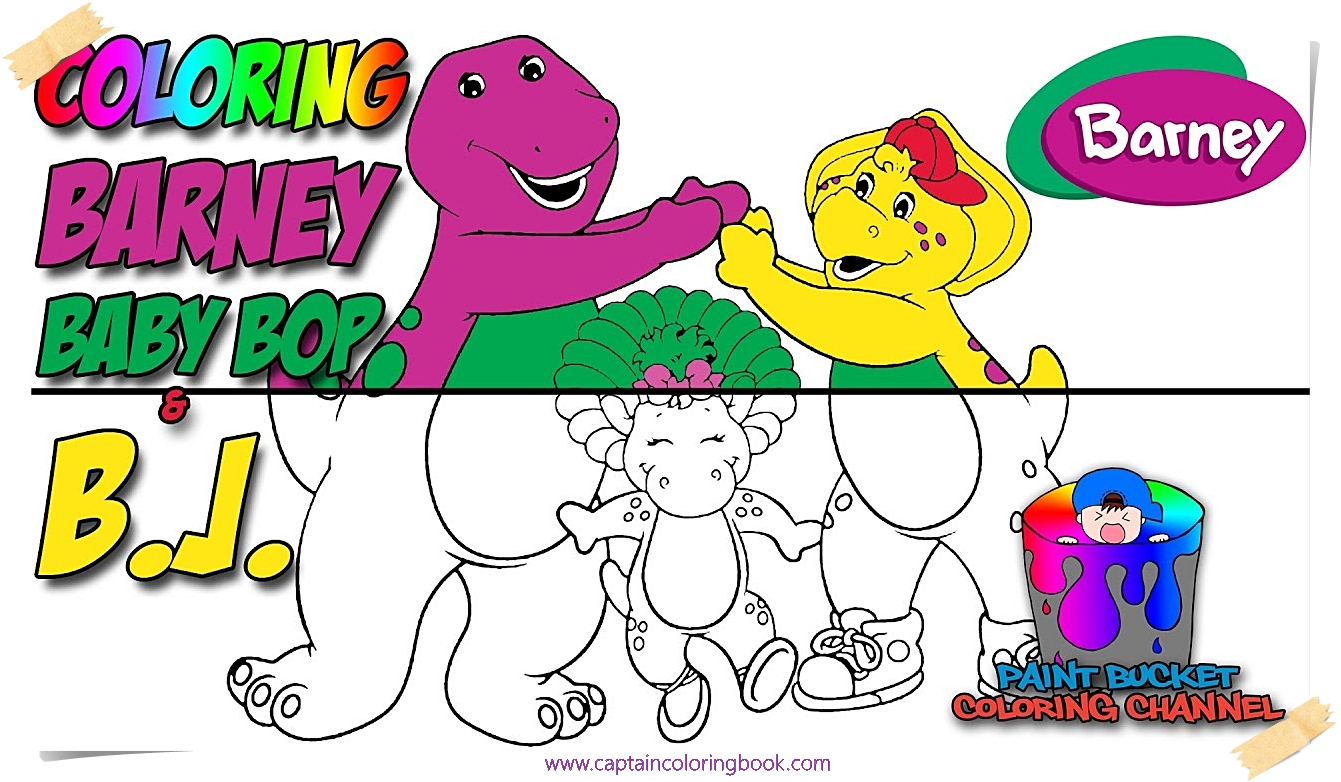 Coloring Barney, Baby - Barney and Friends Coloring Page - Coloring Page
