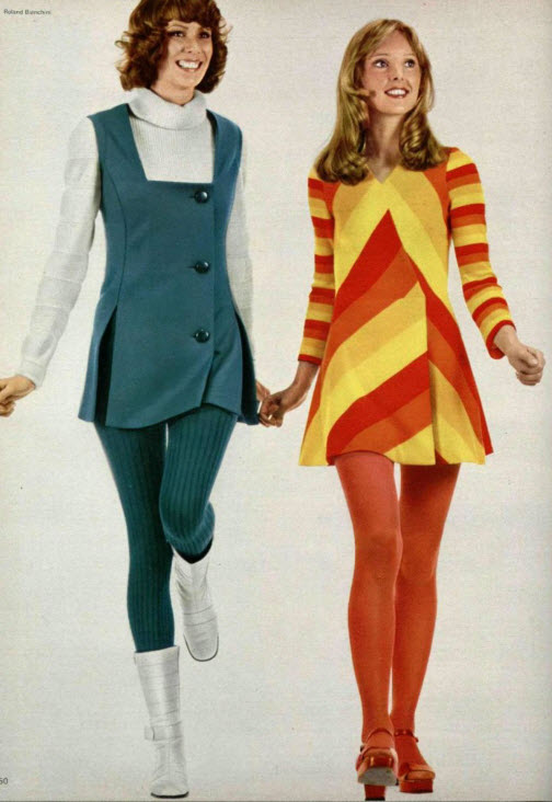 Technicolor Stocking Ads In The 1960s And 1970s Vintage
