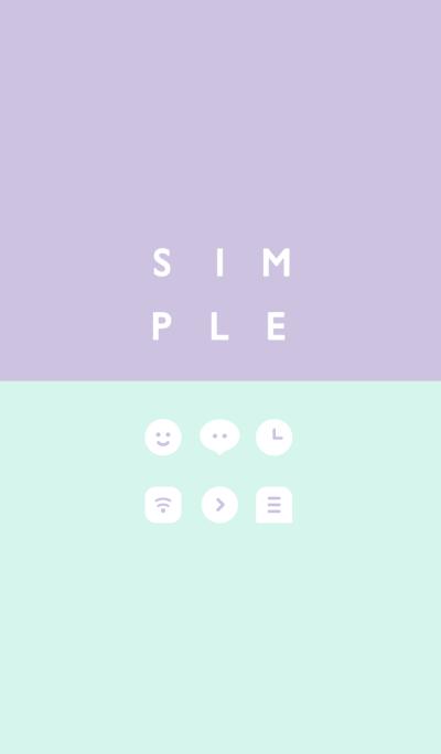 SIMPLE / purple-green.