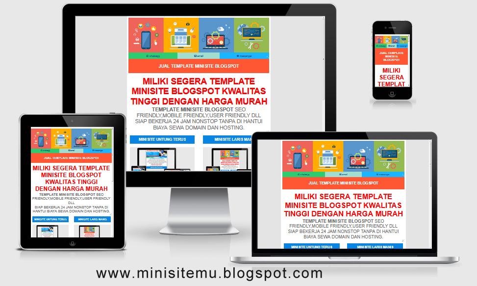 template minisite blogspot