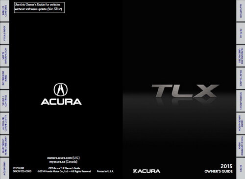 Download 2015 TLX Owner's Manuals & Guides