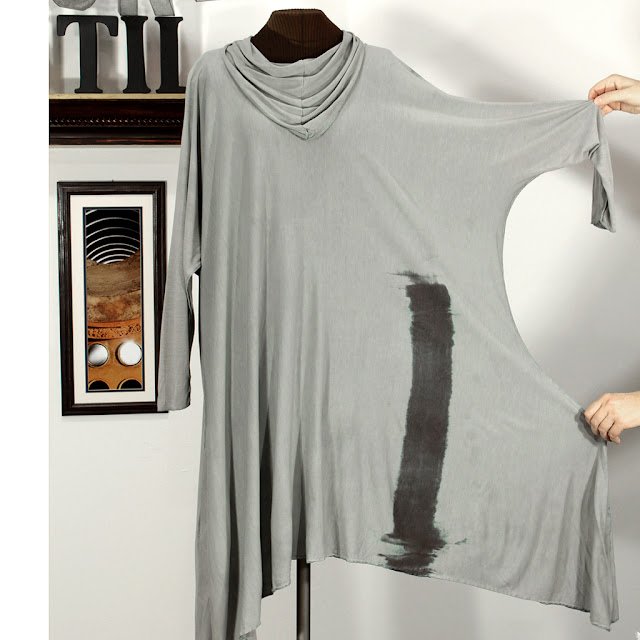 secret lentil jersey tunic - hand made, hand dyed, zen splortch.