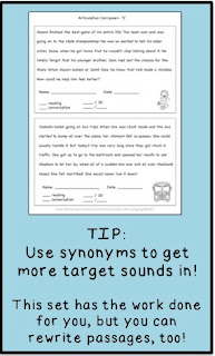 Use synonyms for more artic practice! Tips from Looks-Like--Language