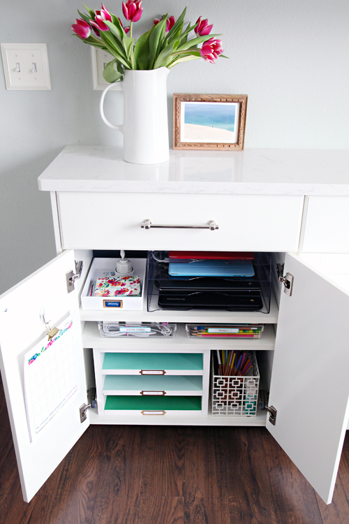 iheart organizing family charging station cabinet