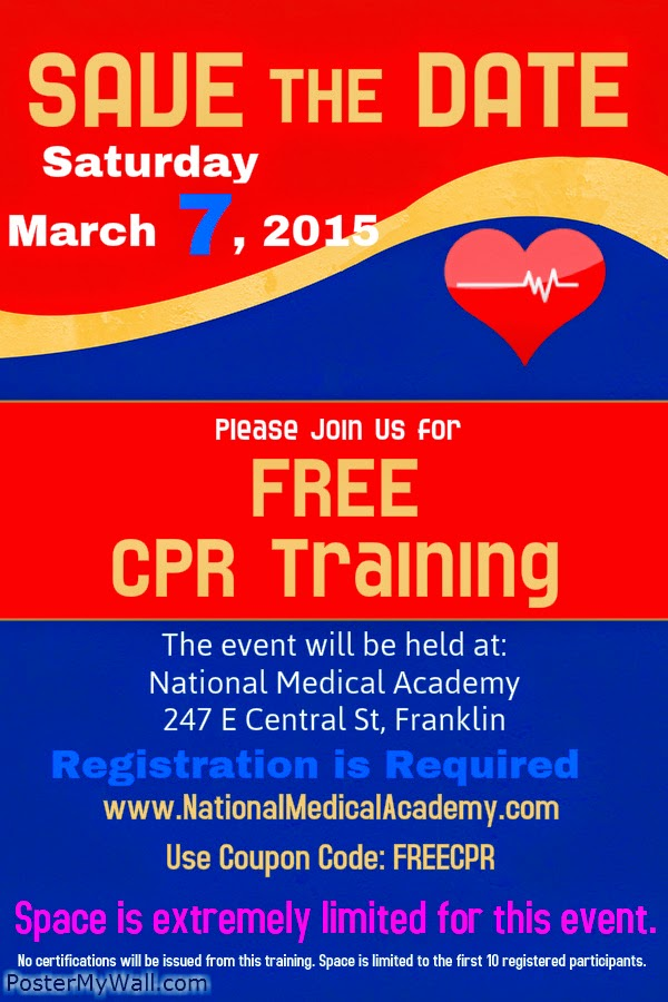 Free CPR Training - register now