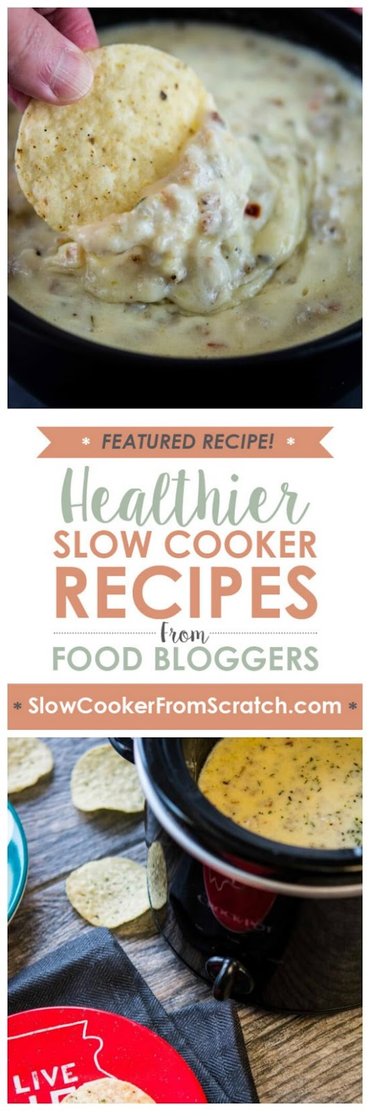 Slow Cooker Sausage and Pepper Jack Cheese Dip from Slow Cooker Gourmet [featured on SlowCookerFromScratch.com]