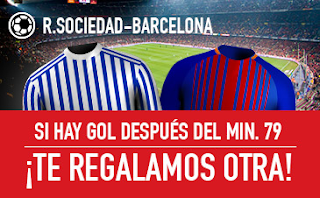 sportium promocion Real Sociedad vs Barcelona 14 enero