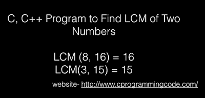 C, C++ Program to Find LCM of Two Numbers