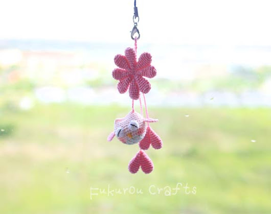 Crochet Lucky charms, lucky doll, pink owl doll, crochet pink leaf clover, lucky phone charms, lucky car charms, lucky keychain, cute lucky phone charms,