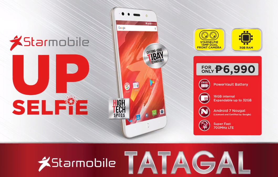 Starmobile Up Selfie Price is Php 6,990, Has Dual Front Cam ...