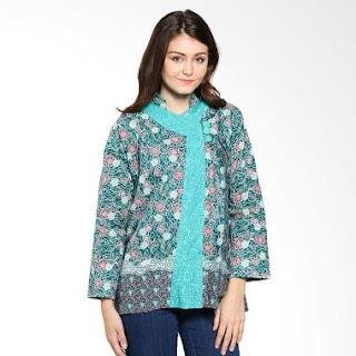 Gambar Model Baju Batik Kerja Kombinasi Modern