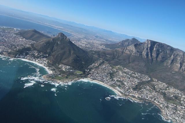 Ciudad del Cabo en Helicóptero: Table Mountain desde el cielo