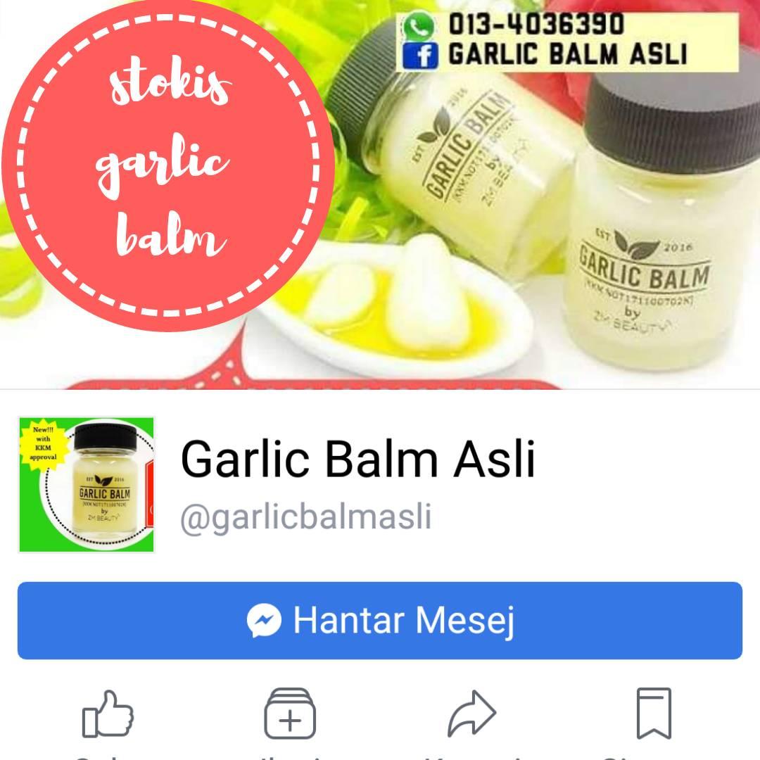 STOKIS SAH GARLIC BALM KAWASAN PARIT BUNTAR PERAK