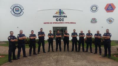 GCM de Jandira - Visita técnica no COI da GCM de Indaiatuba