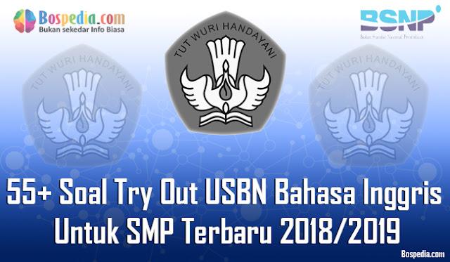 55+ Soal Try Out USBN Bahasa Inggris Untuk SMP Terbaru 2018/2019
