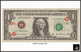 Tersembunyi gambar dalam satu dolar