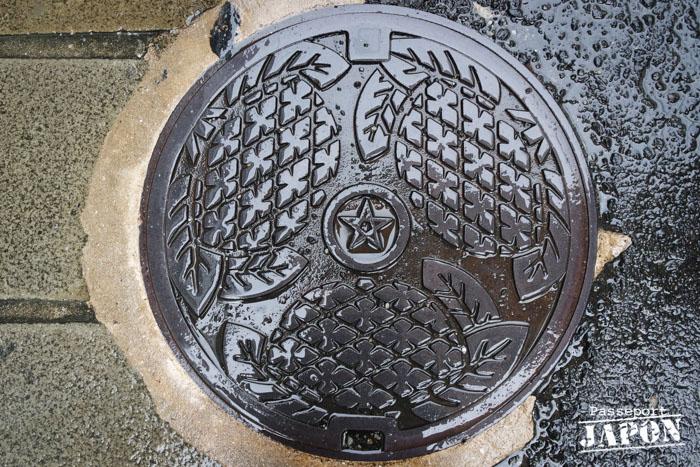 Plaque d'égout manhole, Chinatown, Nagasaki