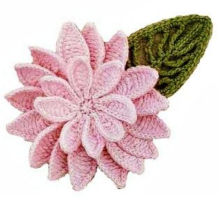 flor de ganchillo con recetas y diagramas