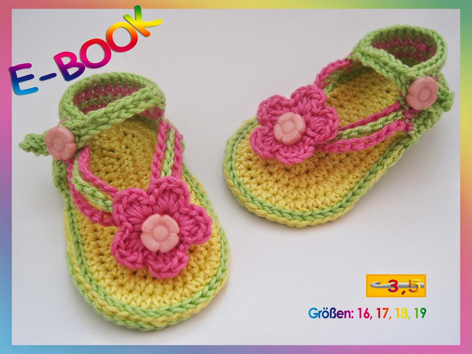 Häkeln, Baby, Sandalen, Babysandalen, Schuhe, Babyschuhe