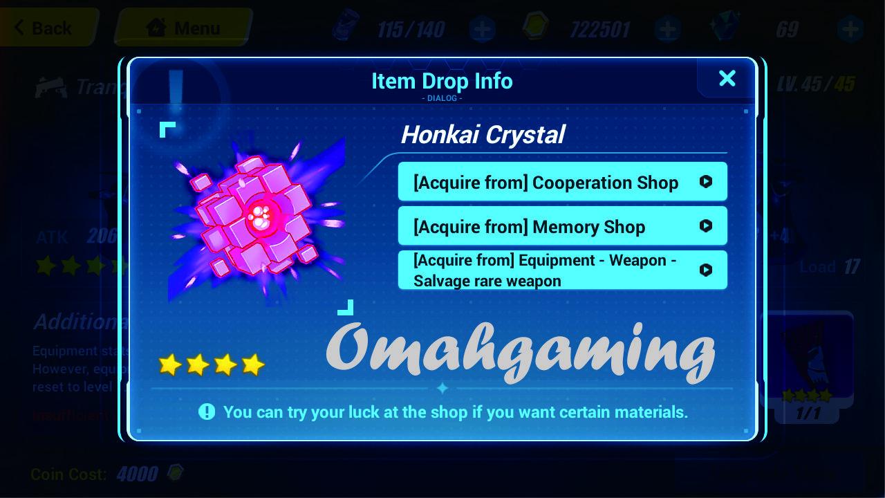 mendapatkan honkai crystal di honkai impact 3