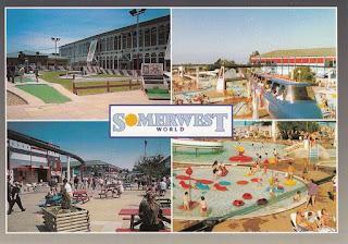 Butlin's Holidays postcard from Somerwest World Minehead. Postally unused
