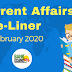 Current Affairs One-Liner: 7th February 2020