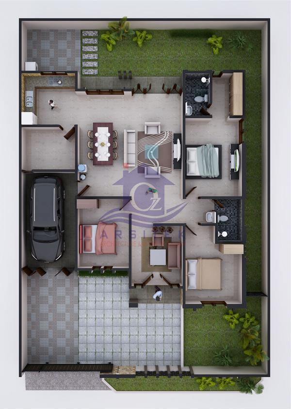 Denah Rumah Minimalis di Bandung