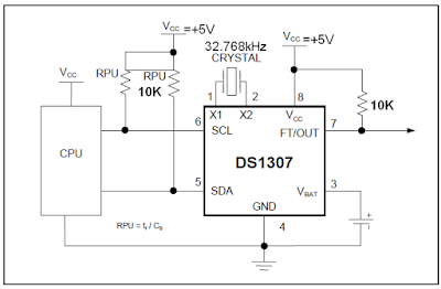 Circuit Connections of DS1307
