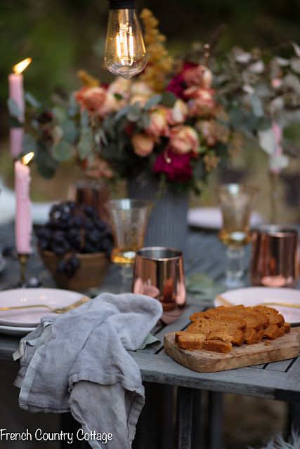 On the table- Gathered Goodness Thanksgiving table setting idea